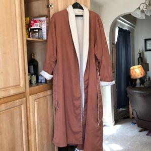 Luxury terry lined bathrobe